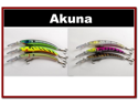 "6 Pack 5.9"" Deep Diving Pike Bass Fishing Lure Tackle"