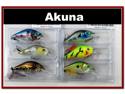 "6 Pack 2.9"" Bass Pike Trout Fishing Lure Bait Crankbait"