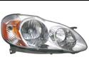 Toyota 2003-2004 Corolla Ce/Le Headlight Assembly Passenger Side Chrome