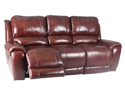 Titan Dual Power Recliner Sofa in Dark Burgandy by Parker Living