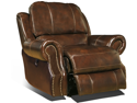 Zeus Glider Recliner Chair in Coffee by Parker Living