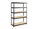 Boltless Steel and Particleboard Shelving 48x18 in Black by Safco