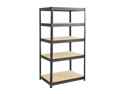 Boltless Steel and Particleboard Shelving 36x24 in Black by Safco