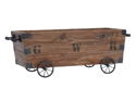 Wood Cart A Wood Storage Crate by Benzara