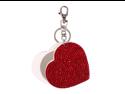 Heart slide mirror key chain