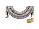 "CALFLEX MK4120B BRAIDED STAINLESS STEEL DISHWASHER CONNECTORS WITH ELBOW (120"")"