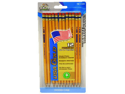 USA Gold Woodcase Pencil Pre-Sharpended 12 Pk*6