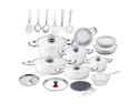 Chef 's Secret  33pc Heavy-Gauge Stainless Steel Cookware Set