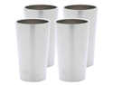 Maxam  4pc Double Wall 13oz Stainless Steel Tumbler Set