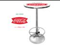 Vintage Coca-Cola Coke Pub Table - Ice Cold Design
