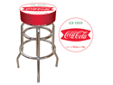 Vintage Coca-Cola Coke Pub Stool - Ice Cold Design