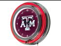Texas A&M University Neon Clock - 14 inch Diameter