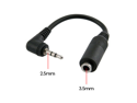Universal Stereo Headphone Adapter 2.5  to 3.5mm + 3 Rings