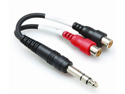 Y-Cable 1/4 (M) Stereo to Dual RCA (F) Cable Adapter