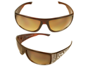 MLC Eyewear SF6926-BNAM Shield Stunning Fashion Sunglasses Brown Frame Amber Lenses for Women