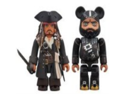 Medicom Pirates Of The Caribbean 4: Jack Sparrow Kubrick & Blackbeard Bearbrick 2-Pack