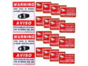 VideoSecu 18 Home CCTV Surveillance Security Camera Video Stickers Warning Decals Signs 3A4