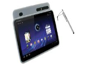 rooCASE 2n1 Silicone Skin (Clear) Case Cover and Capacitive Stylus Pen for Motorola XOOM Tablet