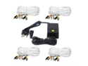 VideoSecu 4 of 100 Feet Video Power Extension Cables and 4 Channel 12V DC Power Supply for CCTV DVR Security Camera System CFV