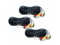 VideoSecu 3 X 50 Feet Audio Video Power Extension Cable for CCTV Security Camera with Free BNC RCA Adapters 1Q4