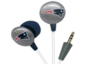 iHip NFF10200NEP NFL New England Patriots Mini Ear Buds, Blue/Red/White