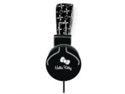 Hello Kitty 35309 Bling Print Headphone, Black