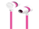 iLuv IEP335WPKN Neon Sound High-Performance Earphone with SpeakEZ Remote for iPod/iPhone/iPad, White Pink Neon