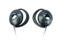 JWIN JHE45BLK Ultra Lightweight Ear-Clips for Digital Devices with In-Line Volume Control Black