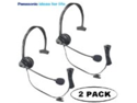 Panasonic Hands-Free Headset with Comfort Fit Headband 2 Pack For The Panasonic KX-TG9322T 2-Line DECT 6.0 Cordless Phone Metallic Black