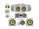 Acoustic Audio HD728 7.1 Channel In-Wall/Ceiling Home Theater Speaker System