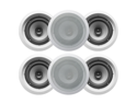 "6 Acoustic Audio CS-IC82 300W 8"" 2-Way Home Theater In-Wall/Ceiling Speakers"