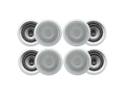 "8 Acoustic Audio CS-IC62 250W 6.5"" 2-Way Home Theater In-Wall/Ceiling Speakers"