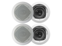 "4 Acoustic Audio CS-IC43 200 Watt 4"" 3-Way Home Theater In-Wall/Ceiling Speakers"