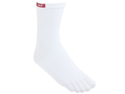 Injinji Tetratsock Performance Original Crew Toe Liner Socks -White - Small