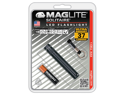 Maglite Solitaire Black LED UltraBright 37 Lumens Flashlight w/ Keychain SJ3A016