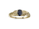 14k Yellow Gold Oval Sapphire Ring (Size 6)