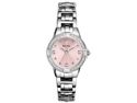 Bulova Diamond Pink Dial Stainless Steel Ladies Watch 96R171