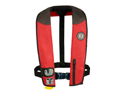 Mustang Deluxe Adult Inflatable - Automatic w/Harness - Universal - Red/Black/Carbon