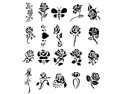 Self Adhesive Airbrush Tattoo Stencil Set Book of 20 Rose Design Template Flower