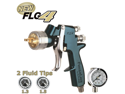 Cupless DeVILBISS FinishLine 4 HVLP SPRAY PAINT GUN w/ 1.3, 1.5 Tips & Regulator
