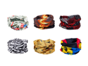 Bundle Monster 6pc Multifunctional Seamless Style Bandanna Hairband Headwear Scarf Neck Wrap Beanie Cap Lot - Set 1