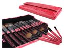 Bundle Monster New 15pc Pro Makeup Eye Shadow Brush Set + Eye Brush Case Pink
