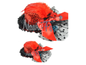 Red Sequin Mini Top Hat Fascinator Feather Veil Bow