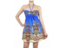 Sexy Halter Style Blue Paisley Summer Party Dress New