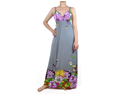 Gray Multi Color Garden Maxi Dress