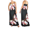 Black Butterfly Print Maxi Dress
