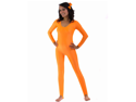 Neon Orange Spandex Scoop Neck Unitard