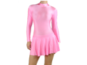Light Pink Spandex Ice & Figure Skating Leotard Dress