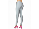 Gray Shiny Spandex Dance Tights Color Gymnastics Leggings