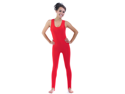 Red Shiny Spandex Sleeveless Plus Unitard Halloween Costume